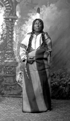 Black Owl, Gros ventre Chief. Photographed by D. F. Barry, 1883.