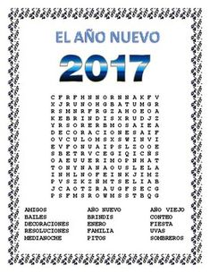 This exciting Word Search and Double Puzzle teaches vocabulary words to students using cognates and a hint word to let them know what the search is about.  Have students compete for a homework pass in the older grades.  Great beginning of year activity during the month of January.