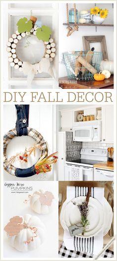 Home Decor - Super cute DIY Fall Home Decor Ideas and Tutorials at the36thavenue.com