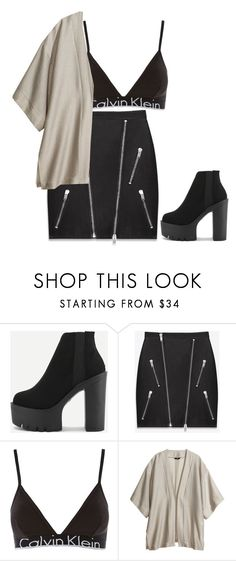 """Untitled #664"" by petitaprenent ❤ liked on Polyvore featuring Yves Saint Laurent, Topshop and H&M"