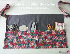 tuto du tablier de couture (ou de jardinage,de bricolage..) - dessinatrice textile et créatrice d'objets uniques!