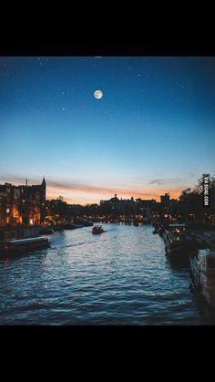 Amsterdam at 5 p.m.