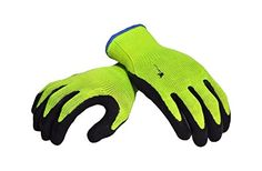 Premium High Visibility All Purpose Micro Foam Double Texture Coating Safety Work & Garden Gloves for Men and Women.