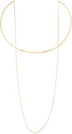 Jennifer Zeuner Jewelry 14k Gold Vermeil Collar Necklace with Draped Chain on shopstyle.com
