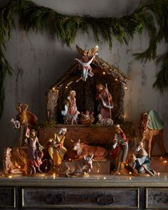 These collectibles were created in a small village in Tuscany, Italy. Founder Emanuele Fontanini's artistic career began at age 13 when he apprenticed with a Tuscan artist. Company was founded in Christmas Jesus, Christmas Nativity Scene, Christmas Love, Winter Christmas, Vintage Christmas, Christmas Crafts, Merry Christmas, Christmas Ornaments, Nativity Sets