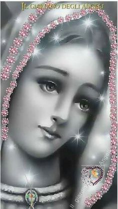 Jesus And Mary Pictures, Holly Pictures, Catholic Pictures, Angel Pictures, Jesus Christ Images, Jesus Art, Blessed Mother Mary, Blessed Virgin Mary, Religious Images
