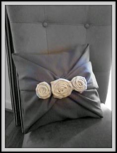 No sew pillow tutorial  This would be a beautiful color for a wedding.