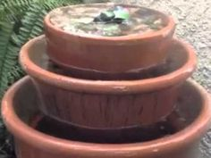 DIY Clay Pots Fountain