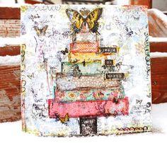 Christmas tree canvas Christy Tomlinson