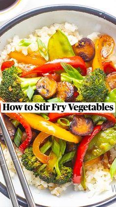 Low Carb Recipes, Diet Recipes, Vegetarian Recipes, Cooking Recipes, Healthy Recipes, Fried Vegetables, Veggies, Clean Eating, Vegetarian Food