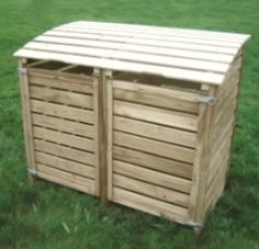 how to build a wheelie bin store