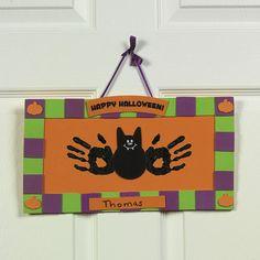 Handprint and Footprint Arts & Crafts: Halloween & Thanksgiving Handprint Kits for kids {Fall Round Up}