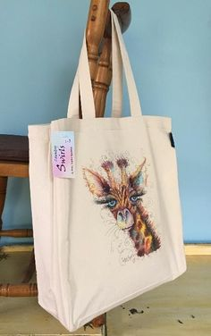 Range of gifts designed by Sophie Appleton Artist. Printed and Embroidery Tote Bags. Swirls, Giraffe, Reusable Tote Bags, Embroidery, Country, Prints, Paintings, Shopping, Design