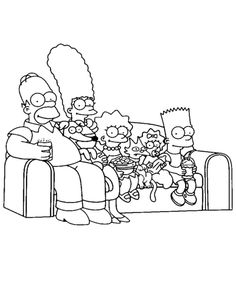 Coloring to print : Famous characters - The Simpsons number 294975