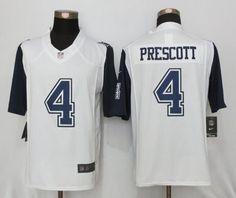 #Nike Cowboys #4 #Dak #Prescott White Men's Stitched #NFL Limited #RushJersey #4DakPrescott #Football #NikeJerseys #Googlejerseys