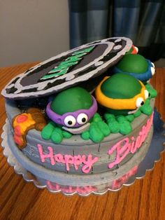 TMNT Cake-Black Dog Bakery by Brianna