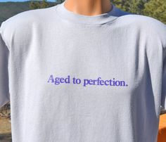 vintage 80s t-shirt WINE aged to perfection funny by skippyhaha