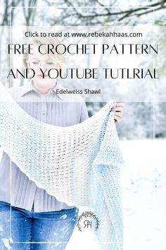 Crochet Scarves, Crochet Shawl, Easy Crochet, Crochet Baby, Free Crochet, Shawl Patterns, Stitch Patterns, Crochet Patterns, Lion Brand Yarn