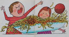 On Top of Spaghetti Song by Tom Glazer and Pictures by Art Seiden (c) 1963 by Songs Music, Inc. (c) 1966 Grosset & Dunlap