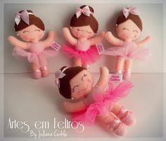 Bailarina Artes em Feltros By Juliana Cwikla