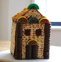 The Temple built from matzah...fun for kids!