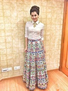 #TaapseePannu's in a #PIAPauro maxi skirt at the #RitzWomanOfMerit soirée in #Chennai!