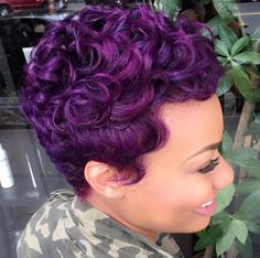 Dope purple via @artistry4gg Read the article here - http://blackhairinformation.com/hairstyle-gallery/dope-purple-via-artistry4gg/