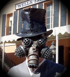 Steampunk gas mask.
