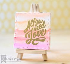 Lil' Inker Designs- The Store Blog Mini Canvas Die All You Need Is Love Stamps Mini Easel