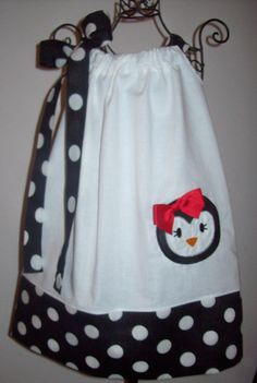 Girls Infant Toddler Custom Boutique Penguin by molliepops on Etsy, $28.00