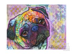Pug Love Giclee Print by Dean Russo at Art.com