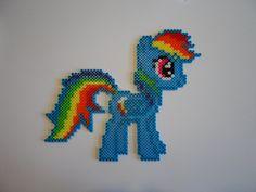 MLP Rainbow Dash hama perler beads by SunsRadiance on deviantART