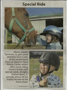7e670086f Two of our children in their troxel helmets after their horse show. Because  of our