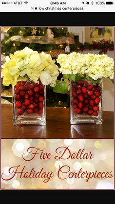 low christmas table centerpiece with fairy lights holiday crafts christmas holidays christmas ideas