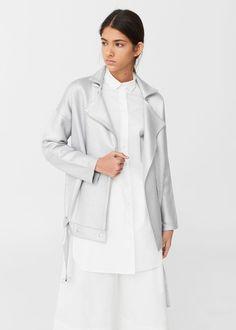 Metallic knit jacket | MANGO