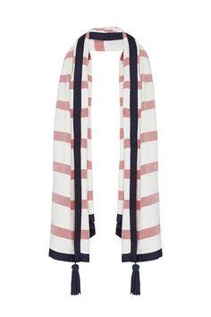 #sassandbide   FORM & STYLE scarf   #redwhiteblue #french #preppy #ivyleague #stripe #red #white #blue #prep
