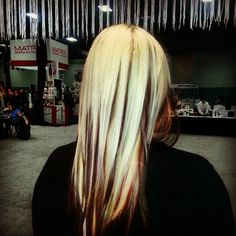 She SoCap hair extensions done on platinum blonde for a cool lowlight effect, another option if you don't want to color your hair