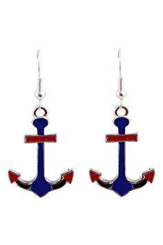 ROMWE Anchor Shaped Earrings