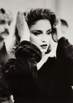Madonna on the set of her Material Girl video (1985)