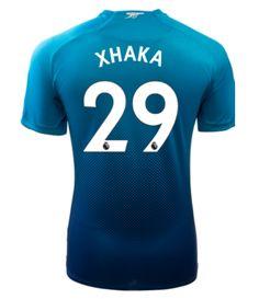 Adult #29 XHAKA Arsenal Away Blue Soccer Jersey 2017/18 Arsenal Jersey, Soccer, Sports, Blue, Shopping, Hs Sports, Futbol, European Football, European Soccer