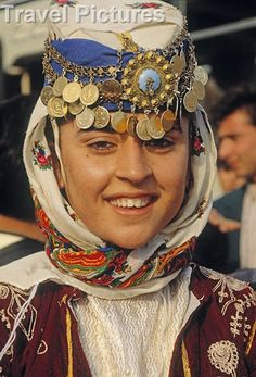 Caption: Young Turkish Woman in Traditional Costume. Photo by: Ken Welsh