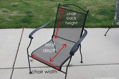 recover sling patio chairs chair covers bunnings make your own reversible cushions | cushions, pads and patios