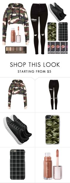 """""""ik ik"""" by rebeccadugger ❤ liked on Polyvore featuring Topshop, Casetify and Urban Decay"""