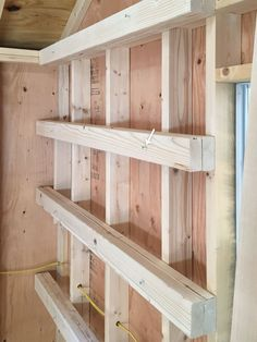 Read down to the part where he gives detail s for making the front of the shelves identical to the back.