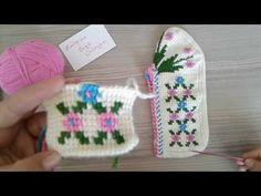 TUNUS İŞİ PATİK ÖREREK ANLATIM - YouTube Soft Slippers, Tunisian Crochet, Baby Shoes, Crochet Hats, Youtube, Anna, Fuzzy Slippers, Shoes, Socks
