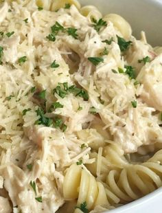 Slow cooker creamy Italian chicken is an easy dump & go crock pot dinner. The chicken is fall apart tender and it makes the most amazing Italian sauce. Creamy Italian Chicken, Italian Chicken Recipes, Recipe Chicken, Slow Cooker Recipes, Cooking Recipes, Healthy Recipes, Crockpot Recipes, Pasta Recipes, Pork Recipes