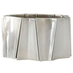 Incredible Antonio Pineda .970 Silver Modernist Wide Bracelet | From a unique collection of vintage link bracelets at http://www.1stdibs.com/jewelry/bracelets/link-bracelets/