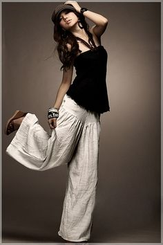 ╰☆╮Boho chic bohemian boho style hippy hippie chic bohème vibe gypsy fashion indie folk the . Looks Style, Style Me, Summer Outfits, Cute Outfits, Summer Clothes, Pantalon Cargo, Look Fashion, Womens Fashion, Mein Style
