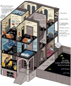 I love cross-sections of things. Cross-sections + Chris Ware = awesome