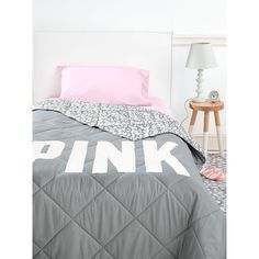 PINK Bed in a Bag ($129) ❤ liked on Polyvore featuring home, bed & bath, bedding, print, queen bed set, twin xl fitted sheet, twin bedding, twin bed set and twin bedding sets